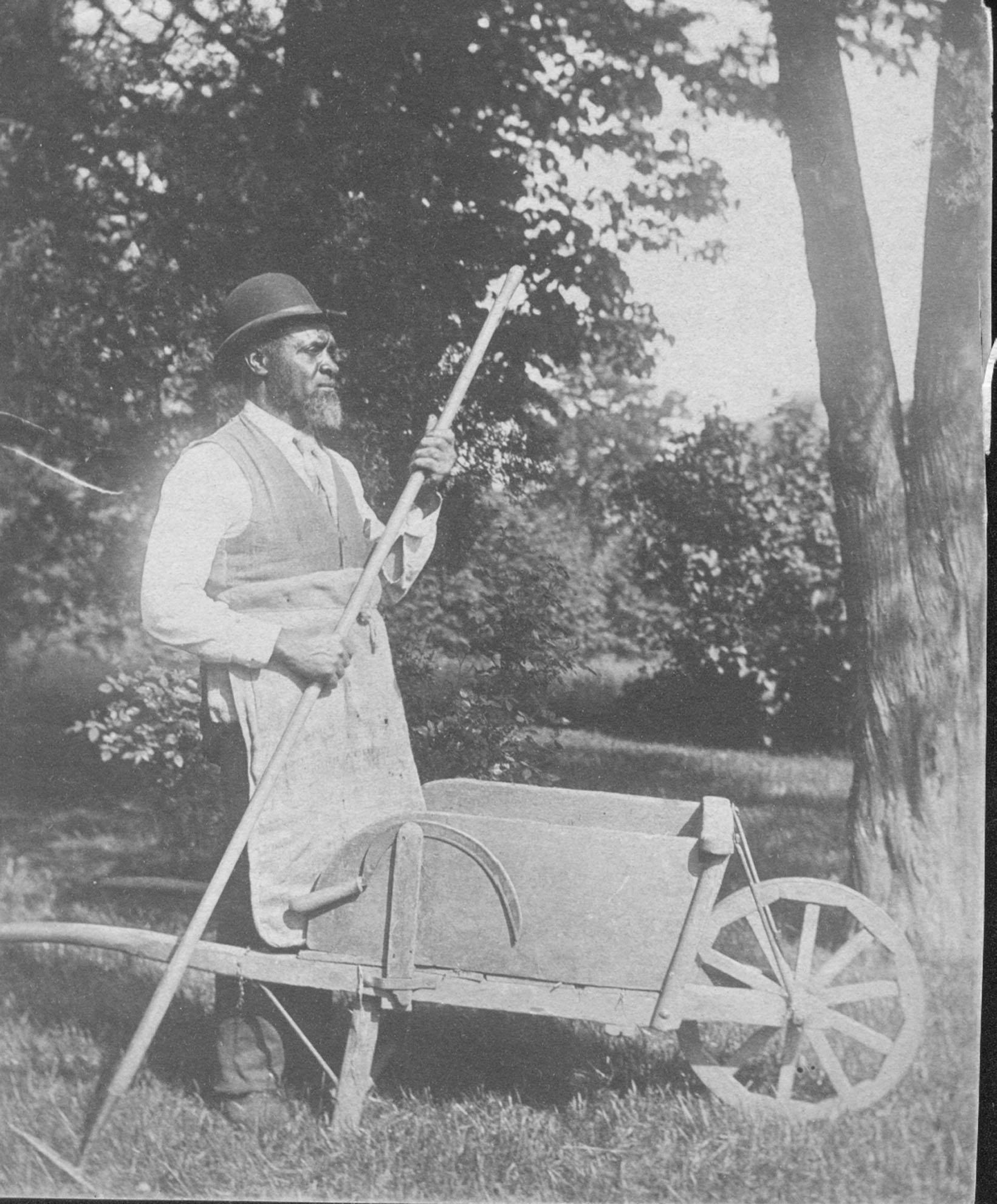 John Luckett w garden tools, A1.41bw