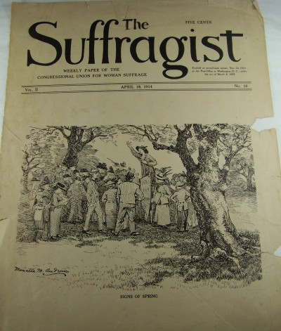 Suffragist cover by Marietta M Andrews