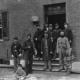Union officers at the door of Seminary Hospital 1865