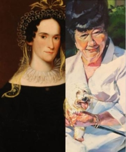 oil portraits of two women