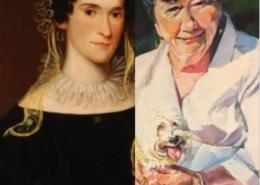 oil portraits of two women
